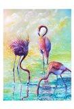Flamingo Family 1 Art Print