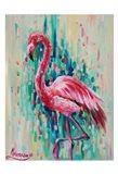 Flamingo Pose 1 Art Print