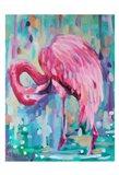 Flamingo In The Natural 1 Art Print