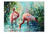 Flamingo's Delight 1 Art Print