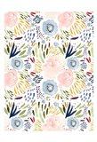 Floral Pink Blue Art Print