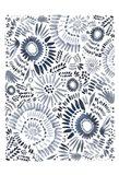 Blue Floral Fun Art Print