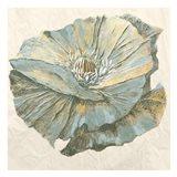 Sapphire Bloom 1 Art Print