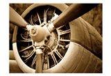 Plane Engine 2 Art Print