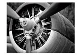 Plane Engine 2 BW Art Print