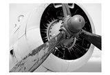 Plane Engine 5 BW Art Print