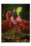 Flamingo Fairy 82390 Art Print