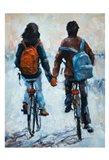 ShenLi's Romance On Bikes Art Print