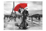 French Kissing Art Print