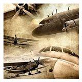 Vintage Plane Montage 82530 Art Print