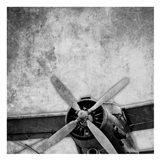 Vintage Plane Engine Art Print