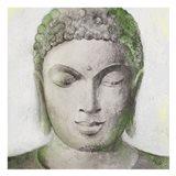 Peaceful Buddha Green Art Print