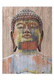 Wooden Painted Buddha Art Print