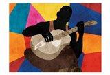 Solo Musician 1 Art Print