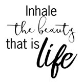 Inhale Life 2 Art Print