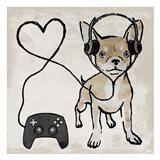 Gaming Chihuahua Art Print