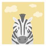 Funky Zebra Art Print