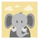 Funky Elephant Art Print