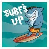 Surf Shark Dude Art Print