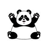 Chubby Panda Art Print