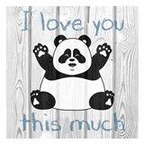 Loving Panda 1 Art Print