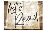 Lets Read Art Print