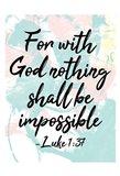 With God Art Print