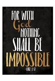 Be Impossible Art Print