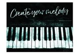 Create Your Melody Art Print