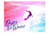 Enjoy The Waves Art Print