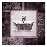 Purple Bath Art Print