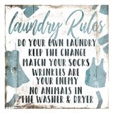 Laundry Rules Laundry Art Print