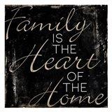 Family Heart Home Art Print