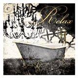 Relax Tub Art Print