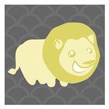 Lion Yellow Art Print