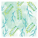 Blue Floral Pattern 2 Art Print