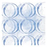 Indigo Circles 1 Art Print