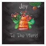 Christmas Chalk Board 1 Art Print