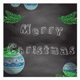 Christmas 2nd Chalk Board Art Print