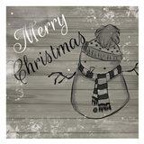 Christmas Black And White Art Print