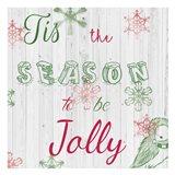 Christmas Typo 1 Art Print