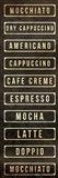 Coffee List Art Print