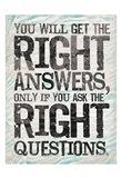 Answer 2 Art Print