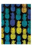 Multi Pineapples Art Print