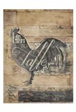 Farm To Table Rooster Art Print