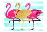 Flamingo Gold Art Print