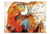 Rich Bison Art Print