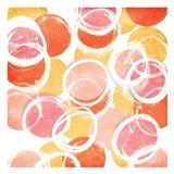 Circular Abstract Blush Orange Art Print