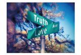 Truth and Love Art Print