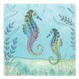 Seahorse Pair Art Print